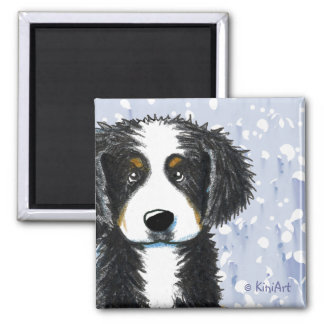 Bernese Mountain Dog Square Magnet