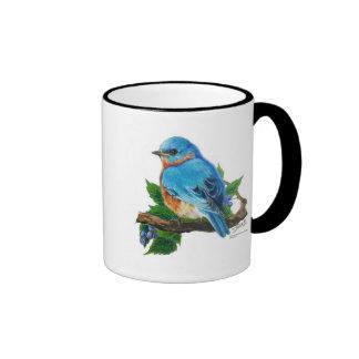 Berry Bluebird Ringer Mug