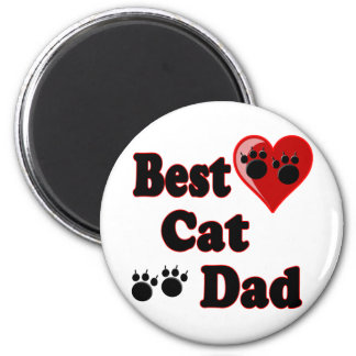 Best Cat Dad Merchandise for Father's 6 Cm Round Magnet