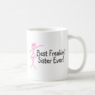 Best Freakin Sister Ever Basic White Mug
