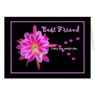 BEST FRIEND Maid of Honor Wedding Invitation Greeting Card