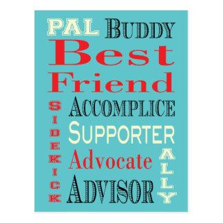 Best Friend Subway Art Postcard