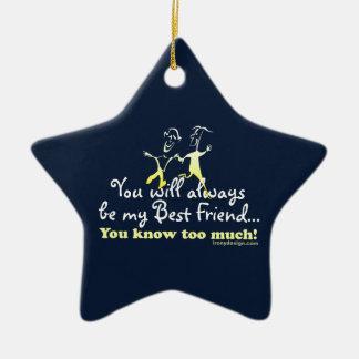 Best Friends Knows Keepsake Ceramic Star Decoration