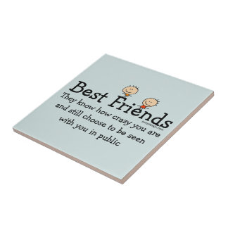 Best Friends Small Square Tile