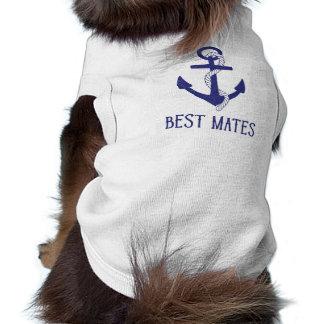 Best Mates Anchor Matching Dog and Human Sleeveless Dog Shirt