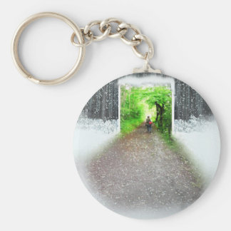 Better weather basic round button key ring