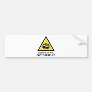 Beware Of The Photographer Bumper Sticker
