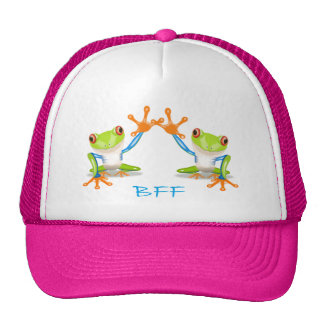 BFF Best Friends Forever Frogs Unisex Adult Hat