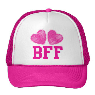 BFF Best Friends forever with love hearts Cap