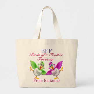 BFF Birds of a Feather Tote Jumbo Tote Bag