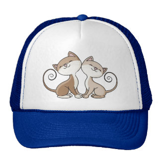 BFF Kitties with Curling Tails Cap