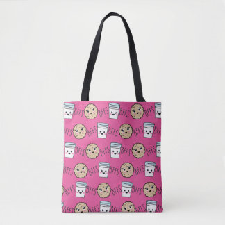 BFF's Cute Cookie and Milk Totes Bag Tote Bag