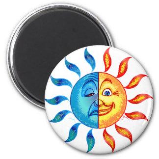 Bi Polar Solar 6 Cm Round Magnet