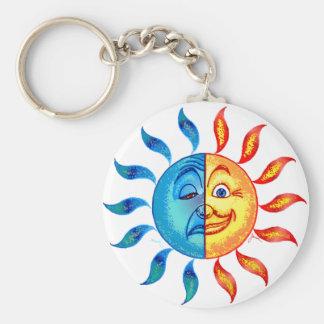 Bi Polar Solar Basic Round Button Key Ring