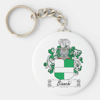Bianchi Family Crest Basic Round Button Key Ring