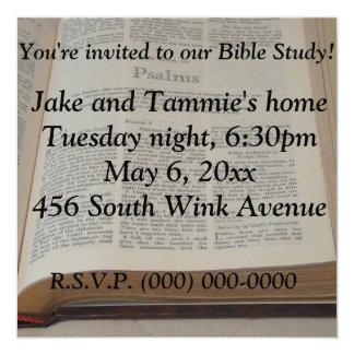 Bible Study 13 Cm X 13 Cm Square Invitation Card