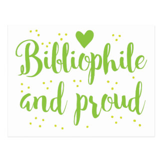 bibliophile and proud postcard