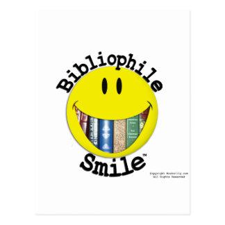 Bibliophile Smile Postcard