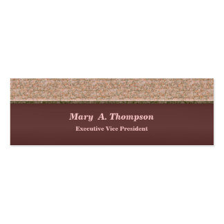 Biege Brown Texture Pack Of Skinny Business Cards