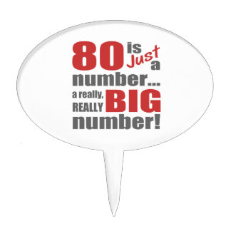Big 80th Birthday Cake Toppers