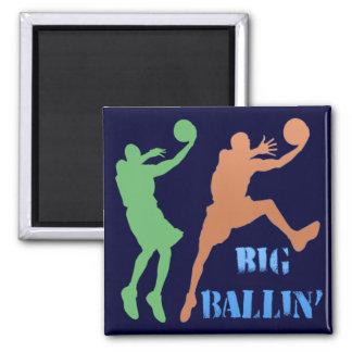 Big Ballin' Square Magnet