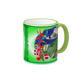 Big Blue Jungle Snake Ringer Mug