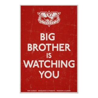 Big Brother Is Watching You Print