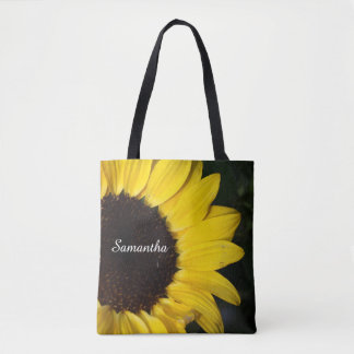 Big Country Sunflower And Name Tote Bag