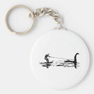Big Foot and Nessie Basic Round Button Key Ring