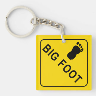 Big Foot Double-Sided Square Acrylic Key Ring