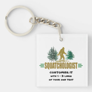 Big Foot Single-Sided Square Acrylic Key Ring