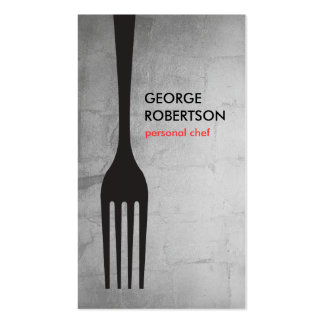 BIG FORK LOGO III for Chef, Catering, Restaurant Pack Of Standard Business Cards