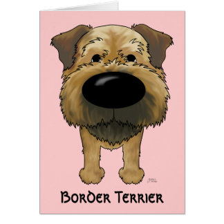 Big Nose Border Terrier Greeting Card