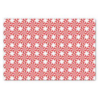 """Big Peppermint Candies Christmas Pattern 10"""" X 15"""" Tissue Paper"""