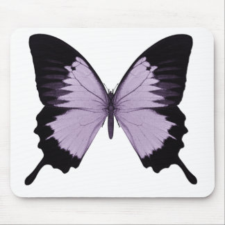 Big Purple & Black Butterfly Mouse Pad