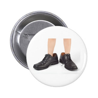 Big shoes to fill 6 cm round badge