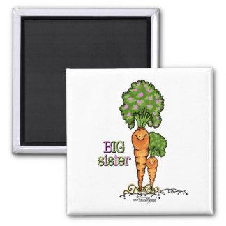 Big Sister - little sibling Square Magnet
