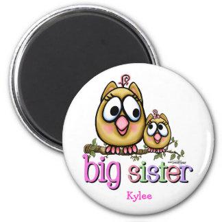 Big Sister little Sis 6 Cm Round Magnet