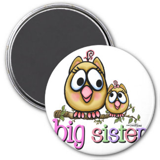 Big Sister Little Sister Owls 7.5 Cm Round Magnet