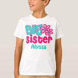 Big Sister Pink Teal Personalised shirt