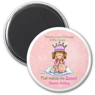 Big Sister - Queen of Princess 6 Cm Round Magnet