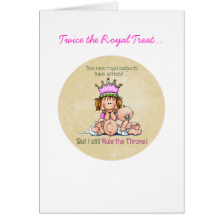 Big Sister - Queen of Twins Greeting Card