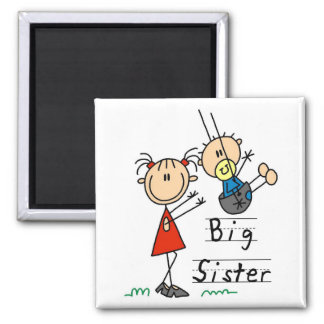 Big Sister with Little Brother Tshirts and Gifts Square Magnet