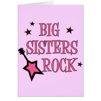 Big Sisters Rock Greeting Card
