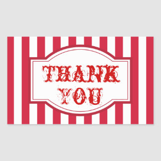 Big Top Carnival Circus Party Thank You Stickers