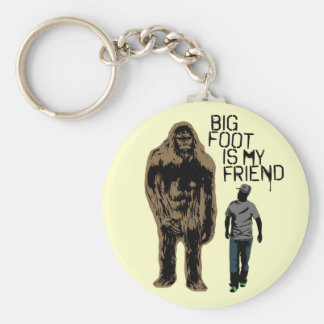 Bigfoot Is My Friend Basic Round Button Key Ring