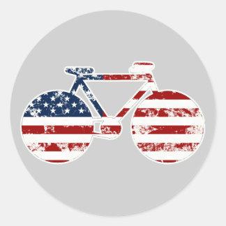 bike , bicycle ; biking / cycling round sticker