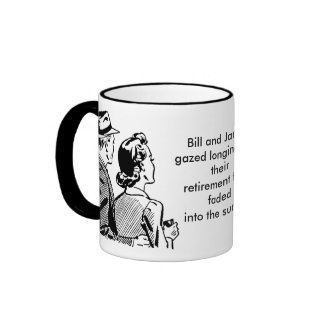 Bill and Janice loose their retirement mug