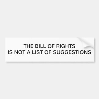 Bill of Rights Bumper Sticker