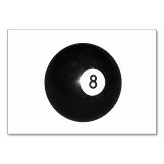 Billiard Ball #8 Table Card